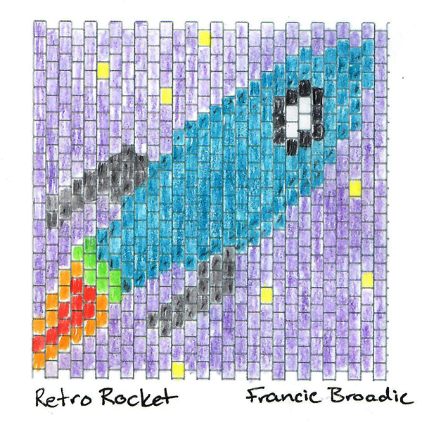 Retro Rocket Square