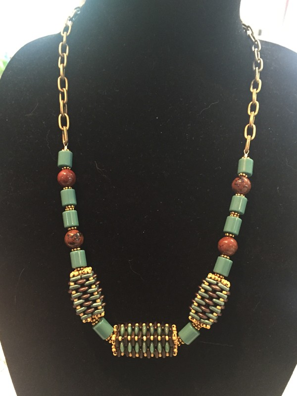 Diane-Beaded-Bead-Necklace-aqua-brown